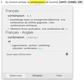 15 astuces sur Mac-Dictionnaire