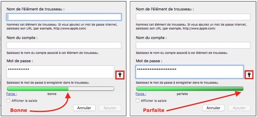 Verrouiller l'accès au Mac-création mot de passe
