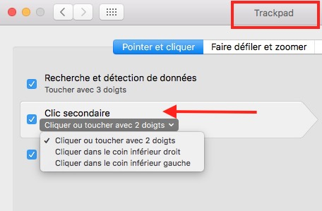 15 astuces sur Mac-Clic droit trackpad