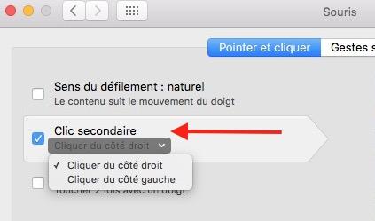 15 astuces sur Mac-Clic droit souris