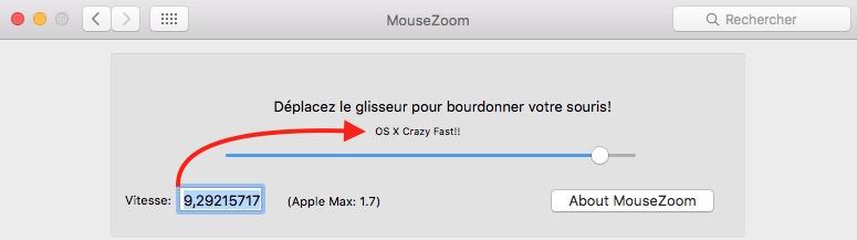 réglage de MouseZoom