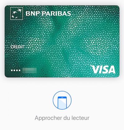 Apple Pay-Approcher du lecteur
