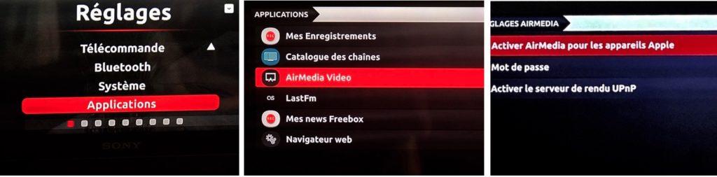 Activer AirMedia sur Freebox TV