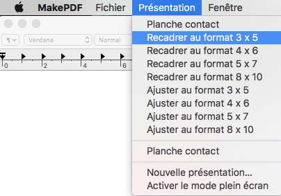 options de format