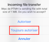 autorisation transfert