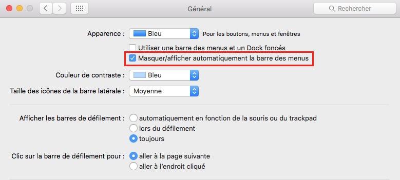Les Services macOS_masquer barre des menus