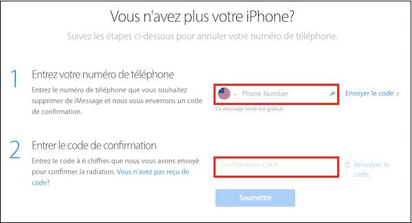 iPhone et Android-Désinscrire son numéro de téléphone