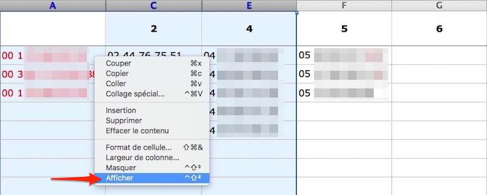 Astuces sur Excel-Réafficher