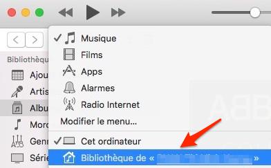 iTunes-Bibliothèque partagée