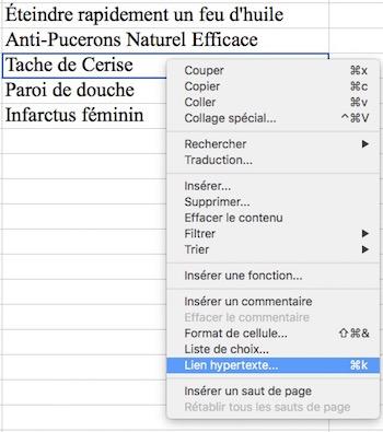 Lien hypertexte-Sommaire