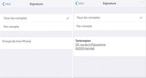 Ajouter une signature dans Mail iOS-Coller signature