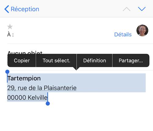 Ajouter une signature dans Mail iOS-Copier signature