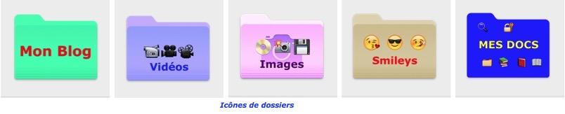 Personnaliser les icônes de dossiers-Icônes de dossiers