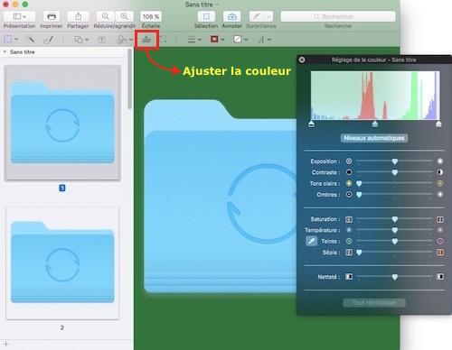Personnaliser les icônes de dossiers-ajuster les couleurs