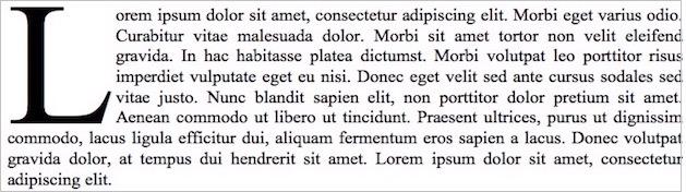 Lettrine
