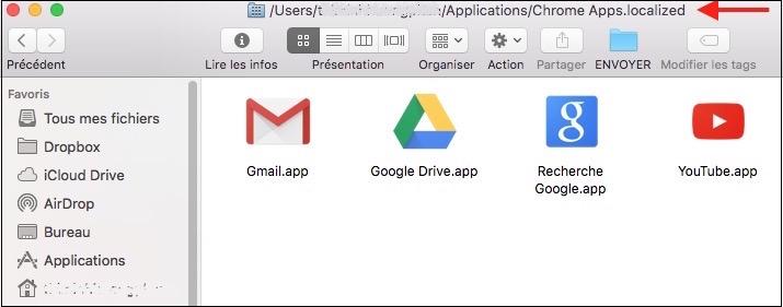 Dossiers de Chrome
