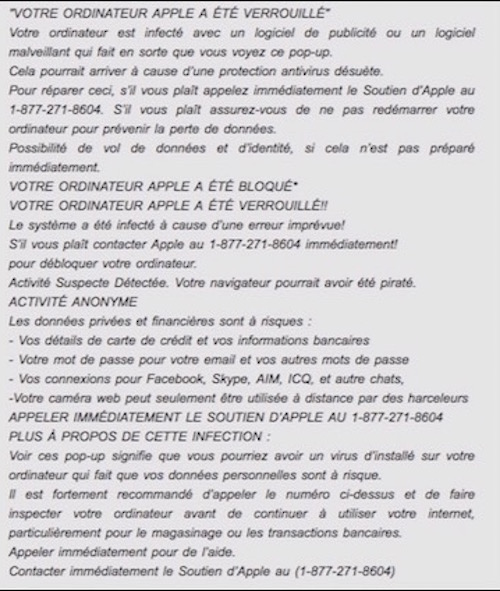 Apple bloqué