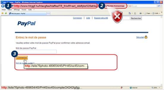 Faux site Paypal