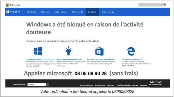 Windows bloqué