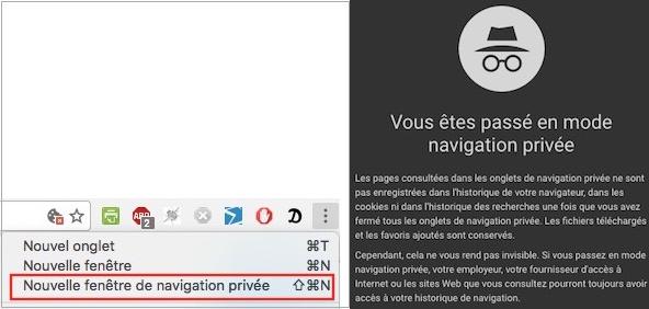 Mode navigation privée
