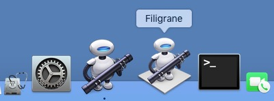 Application Automator et Application Filigrane