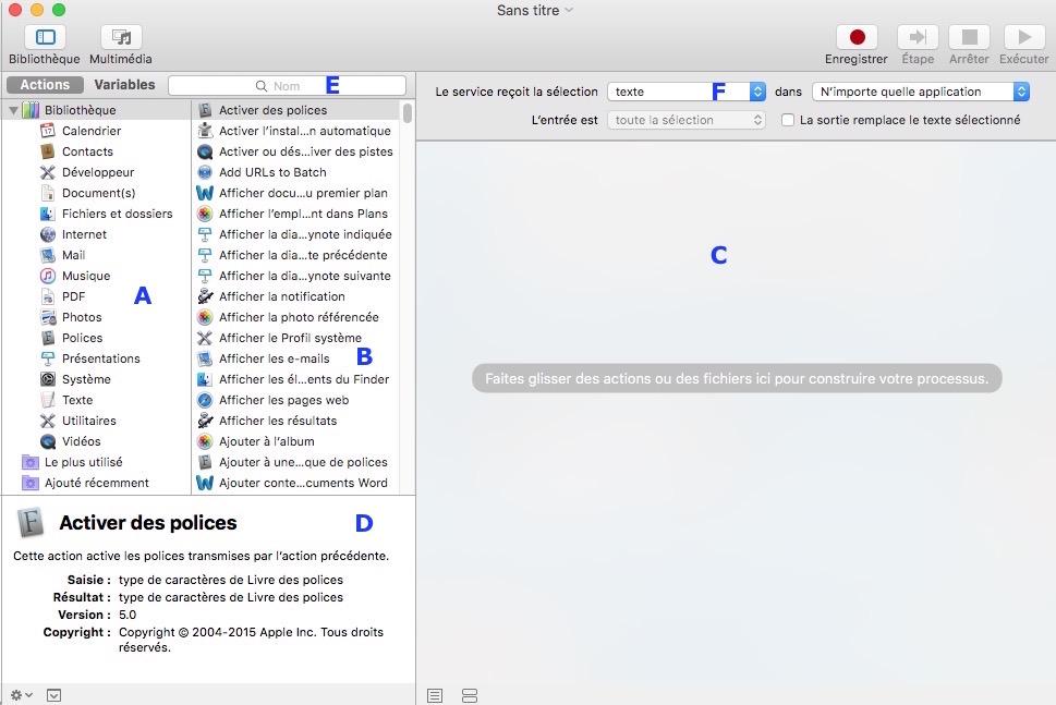 AUTOMATOR et chiffrement PDF