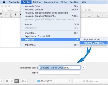 Application Contacts-Exporter Contacts