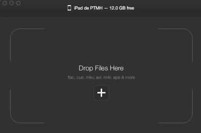 Convertir des fichiers vidéo avec WALTR-Waltr, logiciel de transfert vidéos vers iPhone/iPad- Glisser vidéos dans cette fenêtre